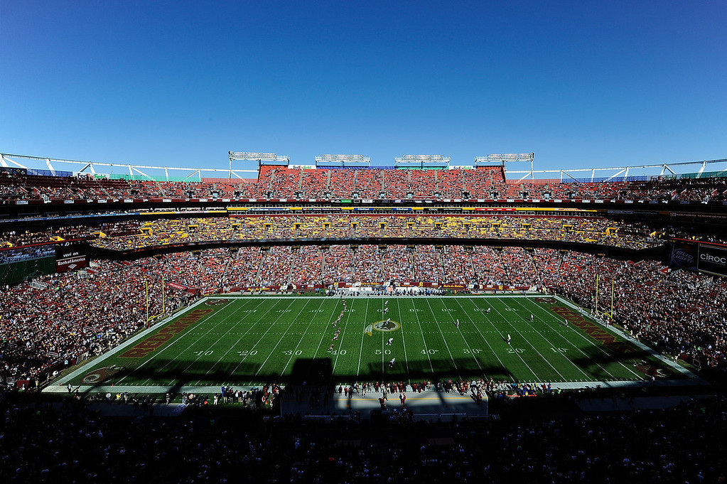 . A general view of the kickoff between the San Diego Chargers and Washington Redskins during an NFL game at FedExField on November 3, 2013 in Landover, Maryland.  (Photo by Patrick McDermott/Getty Images)
