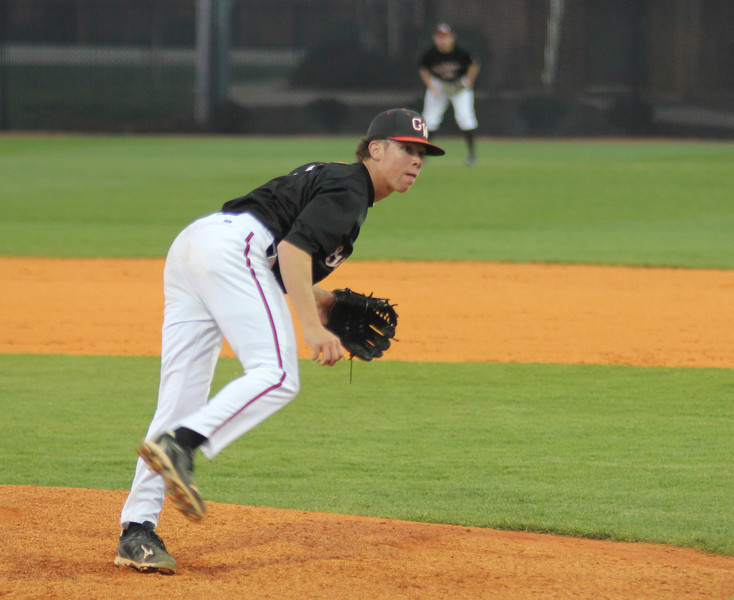 #9 Emilio Pagan takes the mound in the top of the fifth inning for Gardner-Webb as they trail 3-0.