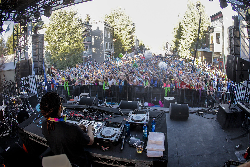 . Lil Jon performs during the Whatever Welcome Parade at Bud Light\'s Whatever, USA on September 6, 2014 in Crested Butte, Colorado. (Photo by Nick Tininenko/Getty Images for Bud Light)