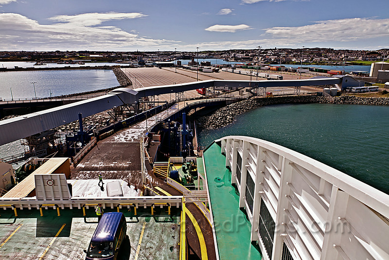 Loading the Irish Ferry 'Ulysses' at the Port of Holyhead