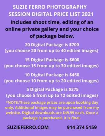 SESSION DIGITAL PACKAGE PRICE LIST