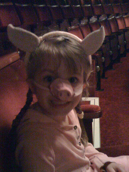 There's a pig in the theatre!