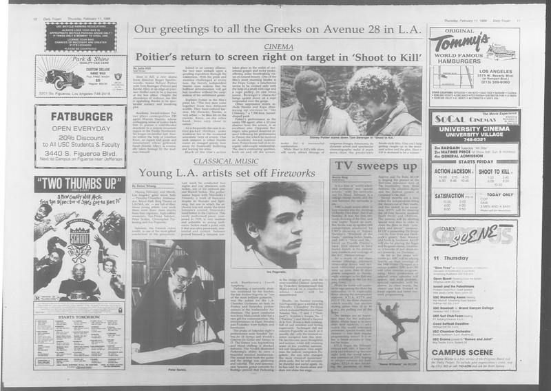 Daily Trojan, Vol. 106, No. 23, February 11, 1988