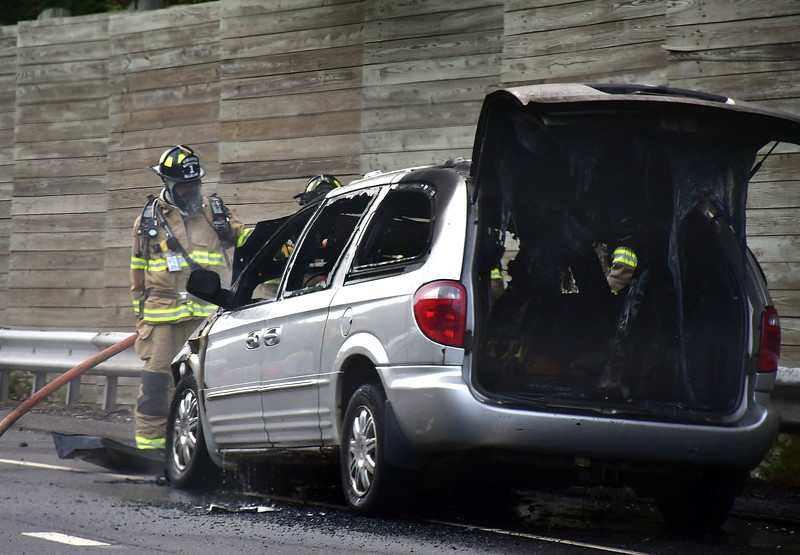 9/5/2019 Mike Orazzi | Staff  PLAINVILLE -- No injuries were reported when a minivan went up in flames on Thursday on Interstate 84 in Plainville. The car fire was reported around 4:18 p.m. between Exit 33 and 34 westbound. Firefighters arrived within minutes and put the fire out.