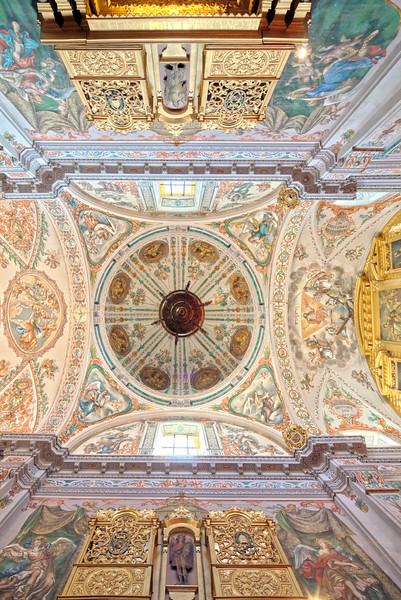 Ceiling of the church of Hospital de los Venerables Sacerdotes, Seville, Spain