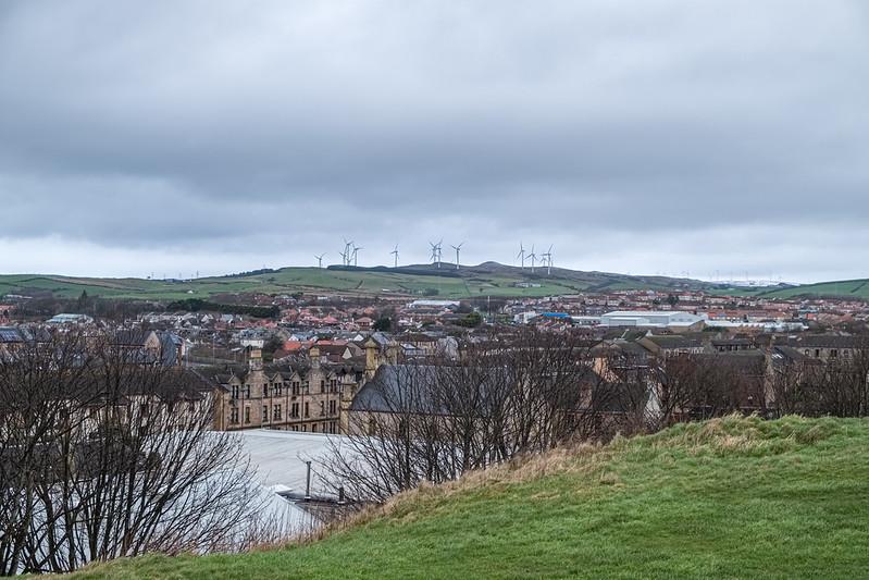 24 megawatt wind farm that sits above Ardrossan on the North Ayrshire Coast of Scotland.