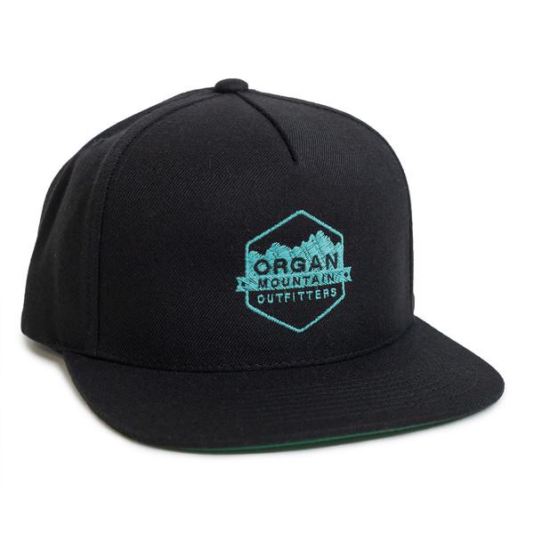 Outdoor Apparel - Organ Mountain Outfitters - Hat - Wool Blend Snapback - Black & Teal.jpg