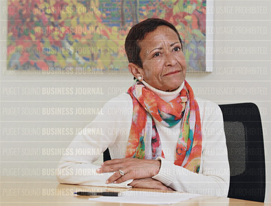 Childhaven chief executive Maria Chavez Wilcox speaks to the Puget Sound Business Journal in Seattle, Wash.