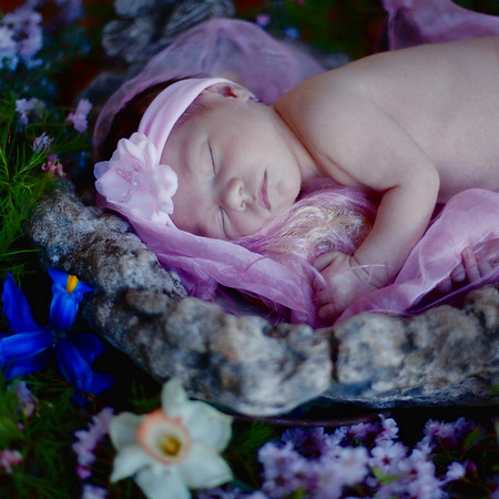 Newborn Baby Kiana Marie Paradise