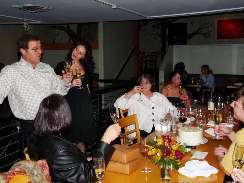 Joe toasts the newlyweds