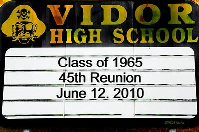 Vidor High School Class of 1965:  45th Reunion