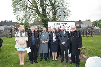 Pictured are invited clergy and Councillors at the Irish Famine Victims Memorial Day held in the Paupers Graveyard on the Camlough Road. R1521009