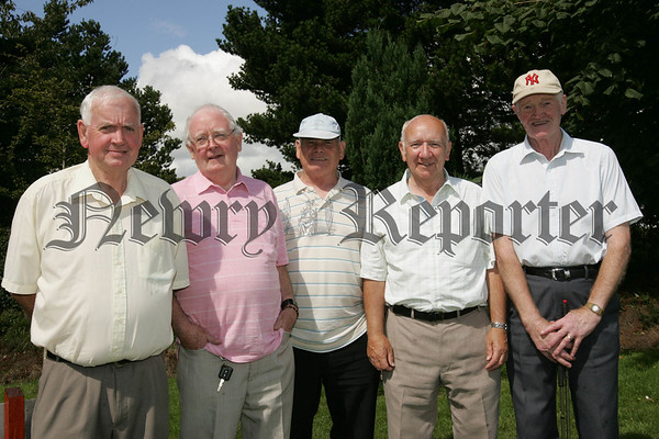 Pictured at Cloughoge Pitch and Putt Seniors Day are, Tom McGivern, Tom McKeown, John Green, Eddie Campbell and Dermot O'Hare.
