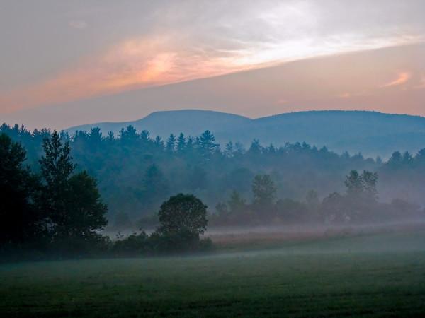 Misty Mountain Sunset