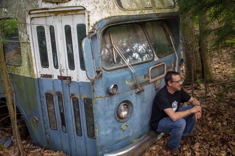 Vintage Bus Portrait