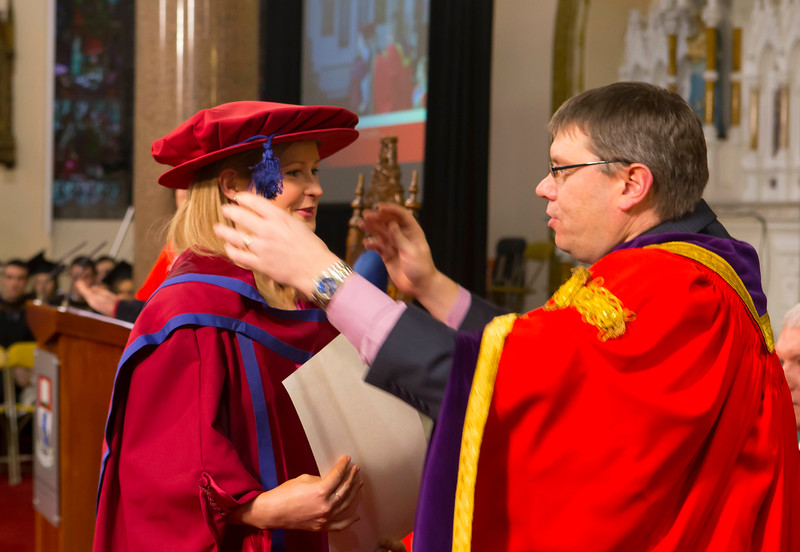 Waterford Institute Of Technology Conferring. Pictured at WIT Waterford Institute Of Technology Conferring is Jill O'Mahoney, Waterford, who was conferred a Doctor of Philosophy by Dr. Ruaidhrí Neavyn, President WIT. Picture: Patrick Browne