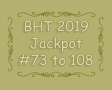 BHT Barrel Racing Jackpot #'s 73 to 108