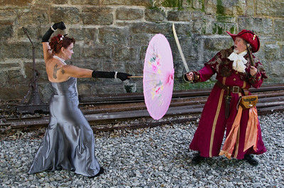 Silk City Steampunk Picnic and Cheney RailRoad Photoshoot