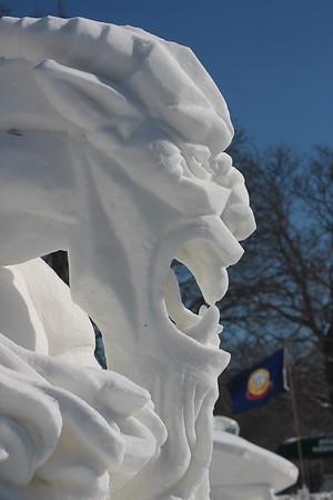 International snow sculpture competition 2014