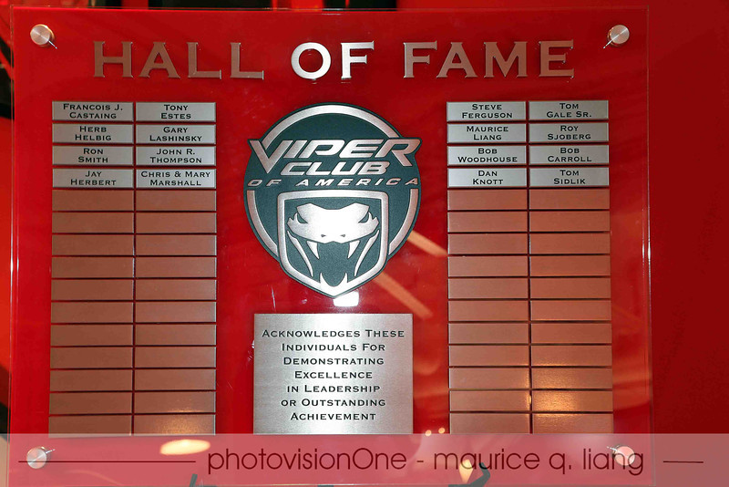VCA Hall of Fame plaque resides in the Viper Cafe.