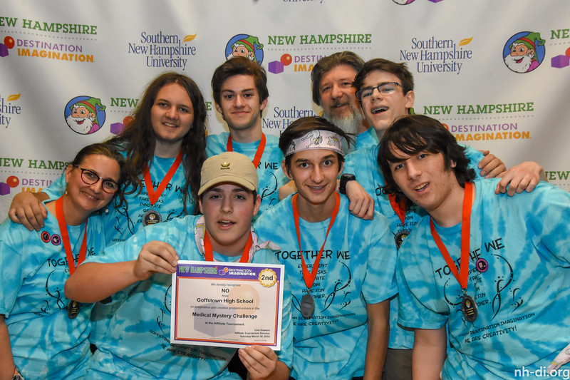 2nd place. 130-86610- Goffstown High School- Goffstown- NO- Secondary- Medical Mystery- Scientfic Challenge