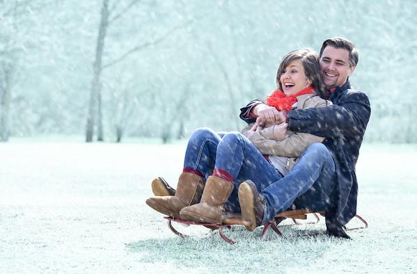Rachel & Chandler (Winter engagement session)