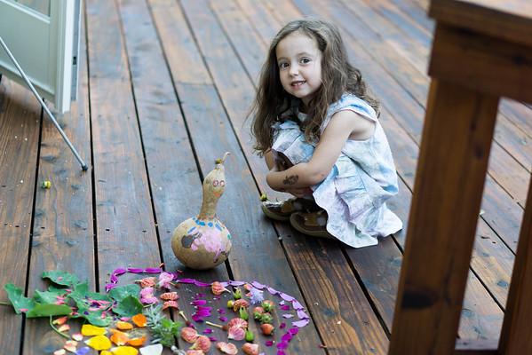 Alexandra and Her Fairy Garden, Oct 2016