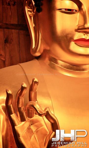 """Gold Buddha In Wait"", Seoul, South Korea, 2008 Print KOR3-55-220"