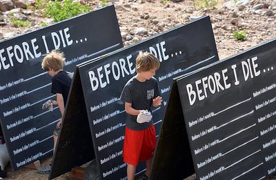 Chalkboards for Death Cafe Tour