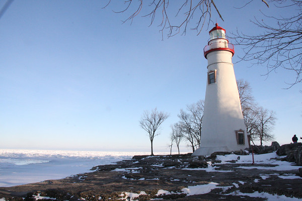 February 6, 2010, Marblehead Lighthouse, near Cedar Point Amusement Park on Lake Erie
