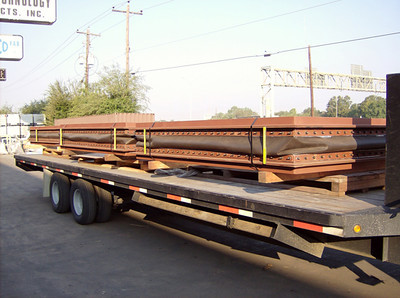 fabric expansion joints being shipped