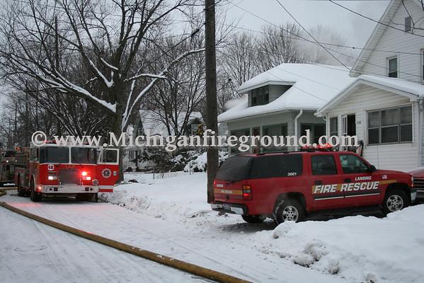 2/26/10 - Lansing house fire, 1112 Farrand