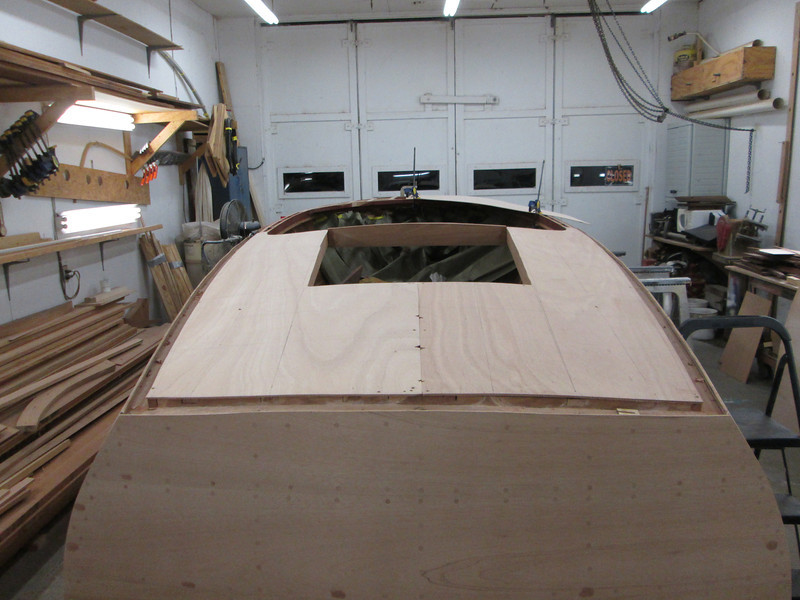 Rear deck plywood fit.