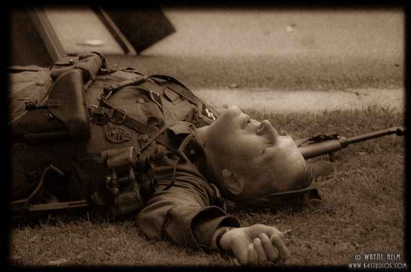 Casualty of War.   Photography by Wayne Heim