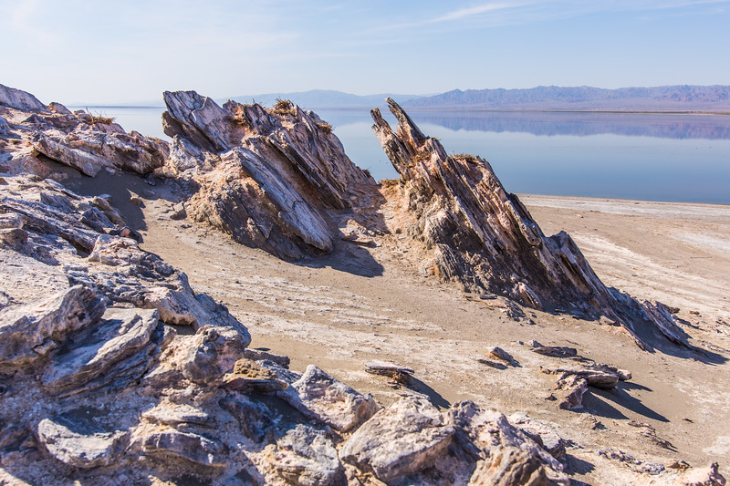 Interesting terrain on Mullet Island on the Salton Sea