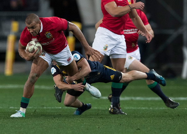 Jonathan Joseph, during game 4 of the British and Irish Lions 2017 Tour of New Zealand,The match between  Highlanders and British and Irish Lions, Forsyth Barr Stadium, Dunedin, Tuesday 13th June 2017 (Photo by Kevin Booth Steve Haag Sports)  Images for social media must have consent from Steve Haag