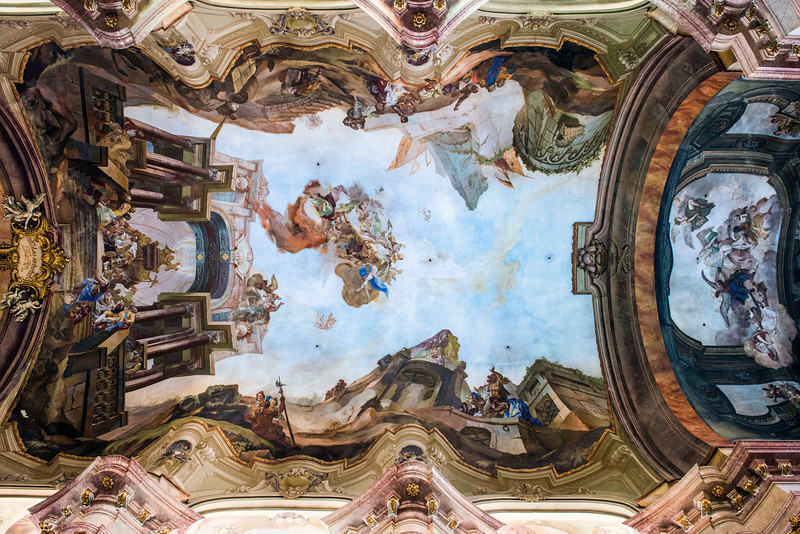 The ceiling at St. Nicholas church, Prague, Czech Republic.