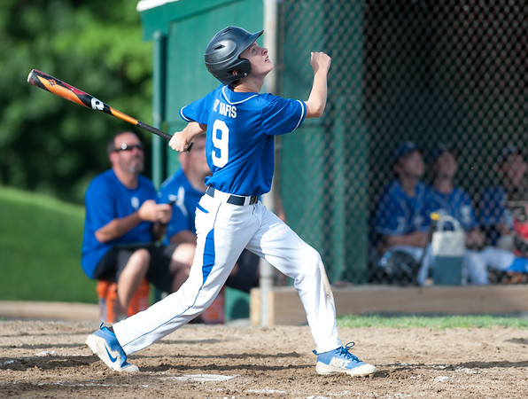 07/24/18 Wesley Bunnell | Staff Southington vs Stratford Titans in 13U Nutmeg Games baseball at Percival Field on Tuesday afternoon. Drew Natis (9).