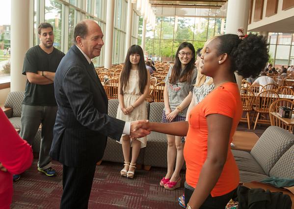Dr. Dobelle Welcomes International Students