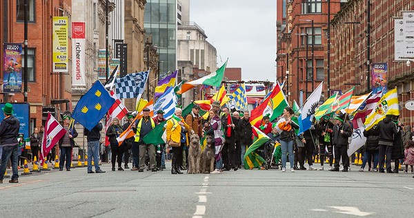 St Patricks Day parade, Manchester 2020