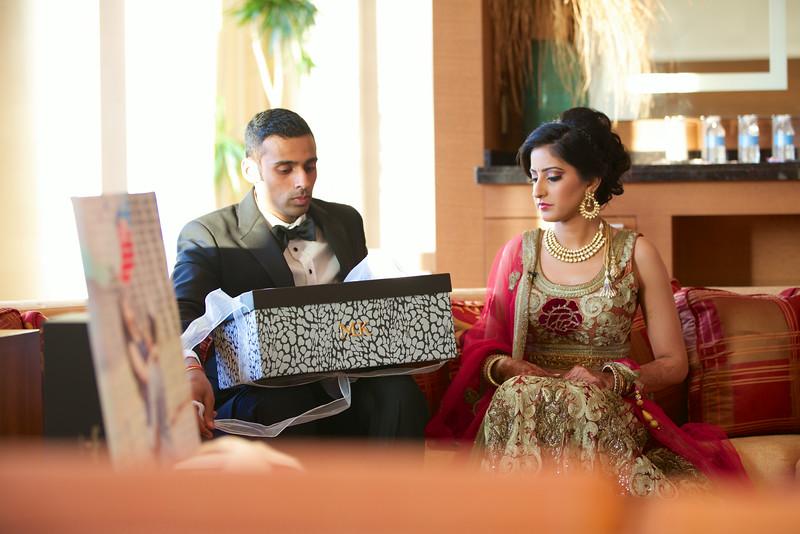 Le Cape Weddings - Indian Wedding - Day 4 - Megan and Karthik Exchanging Gifts 5.jpg