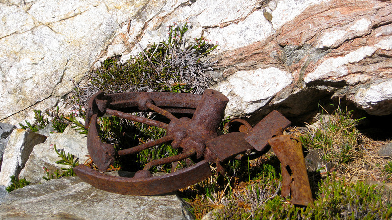 Mining relics at Spider pass.