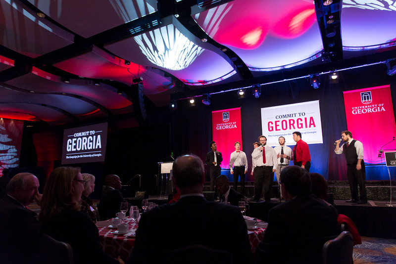 Description: Capital Campaign Atlanta Kickoff ProgramDate of Photo: 11/17/2016Credit: Andrew Davis Tucker, University of GeorgiaPhotographic Services File: 34431-046The University of Georgia owns the rights to this image or has permission to redistribute this image. Permission to use this image is granted for internal UGA publications and promotions and for a one-time use for news purposes. Separate permission and payment of a fee is required to use any image for any other purpose, including but not limited to, commercial, advertising or illustrative purposes. Unauthorized use of any of these copyrighted photographs is unlawful and may subject the user to civil and criminal penalties. Possession of this image signifies agreement to all the terms described above.