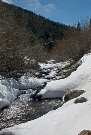 Mount Evans Road in Winter