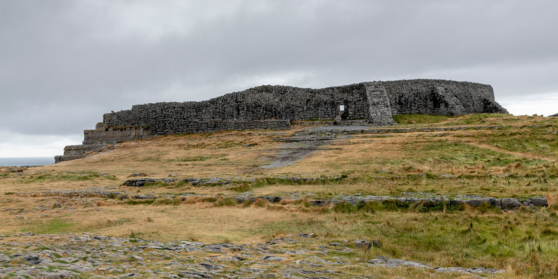 Prehistoric fort of Dun Aonghasa, Kilronan, Inishmore, Aran Islands, County Galway, Republic of Ireland