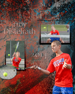 Boys Tennis Collages