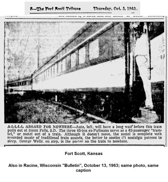 From Fort Scott (Kansas) Tribune, October 3, 1963