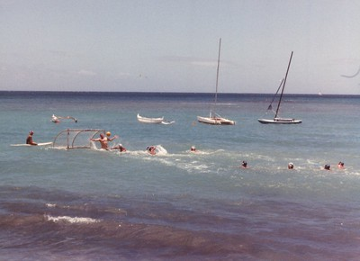 2nd Annual Outrigger Water Polo Tournament 7-29-1989