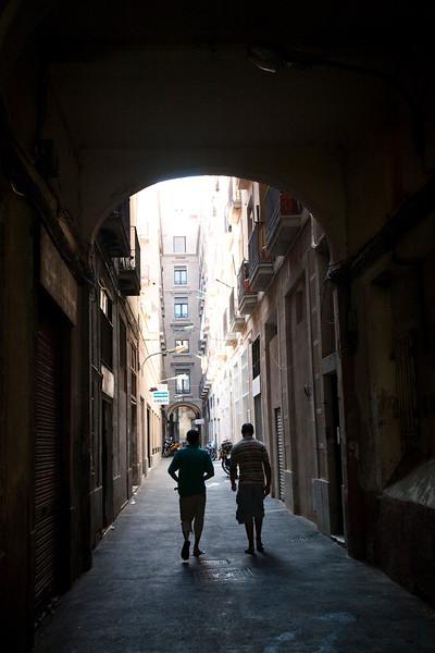 Alley, Raval quarter, town of Barcelona, autonomous commnunity of Catalonia, northeastern Spain