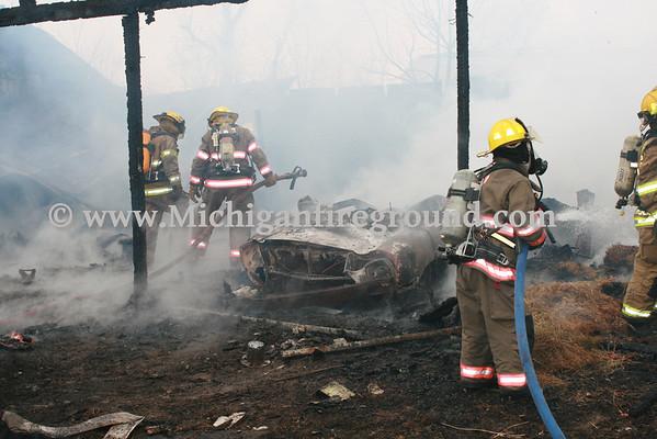 2/15/12 - Hamlin Twp barn fire, 9754 Wilson